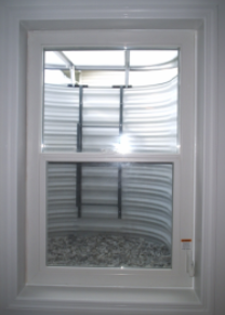 Compact Egress Window Closed, View from In-side