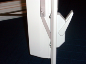 Side View of Open Latch