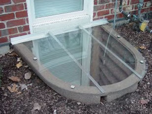 Curved Egress Cover with Back Splash