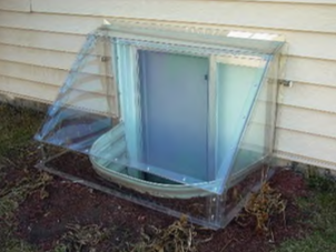 Custom Atrium Cover on Galvanized Well