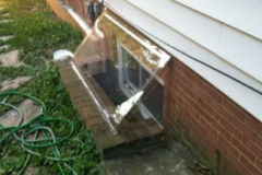 Custom Atrium Cover Small basement slider window