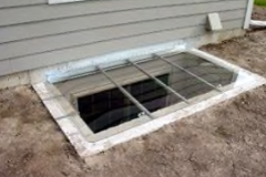 Custom Sloped Hinged Well Cover Closed Position – Brick Well