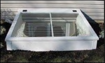 Tempered Glass Cover mounted around an existing Well