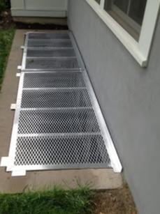 Two Piece Aluminum Egress Well Grate