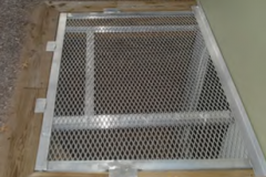 Custom Aluminum Egress Grate on a Wood Timber Well 2