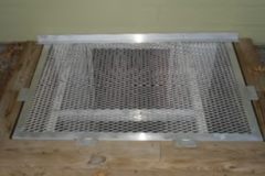 Custom Aluminum Egress Grate on a Wood Timber Well