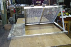 Custom Aluminum Grate with Hinged Escape Hatch Closed & Open views 2