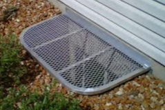 Elongated Custom Grate on Galvanized Steel Well