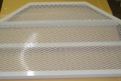 Hexagonal Custom White Aluminum Egress Grate