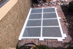 White Painted Aluminum Egress Grate