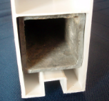 Close-up of Galvanized Steel Channel