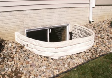Designer Egress Well with a Snap-on Outside cap