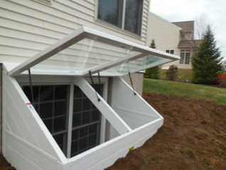 Premium Egress Step Well with Dual Covers having a Center Support
