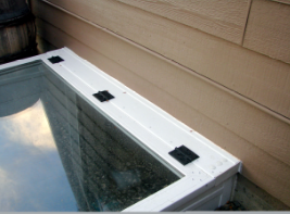 View of Premium Egress Step Well Cover