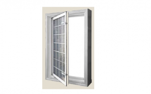 Acrylic Block In-swing Egress Window – Open