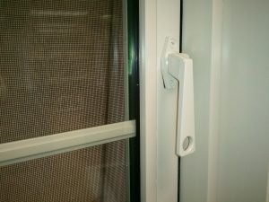 Beige Color Window Latch & Frame