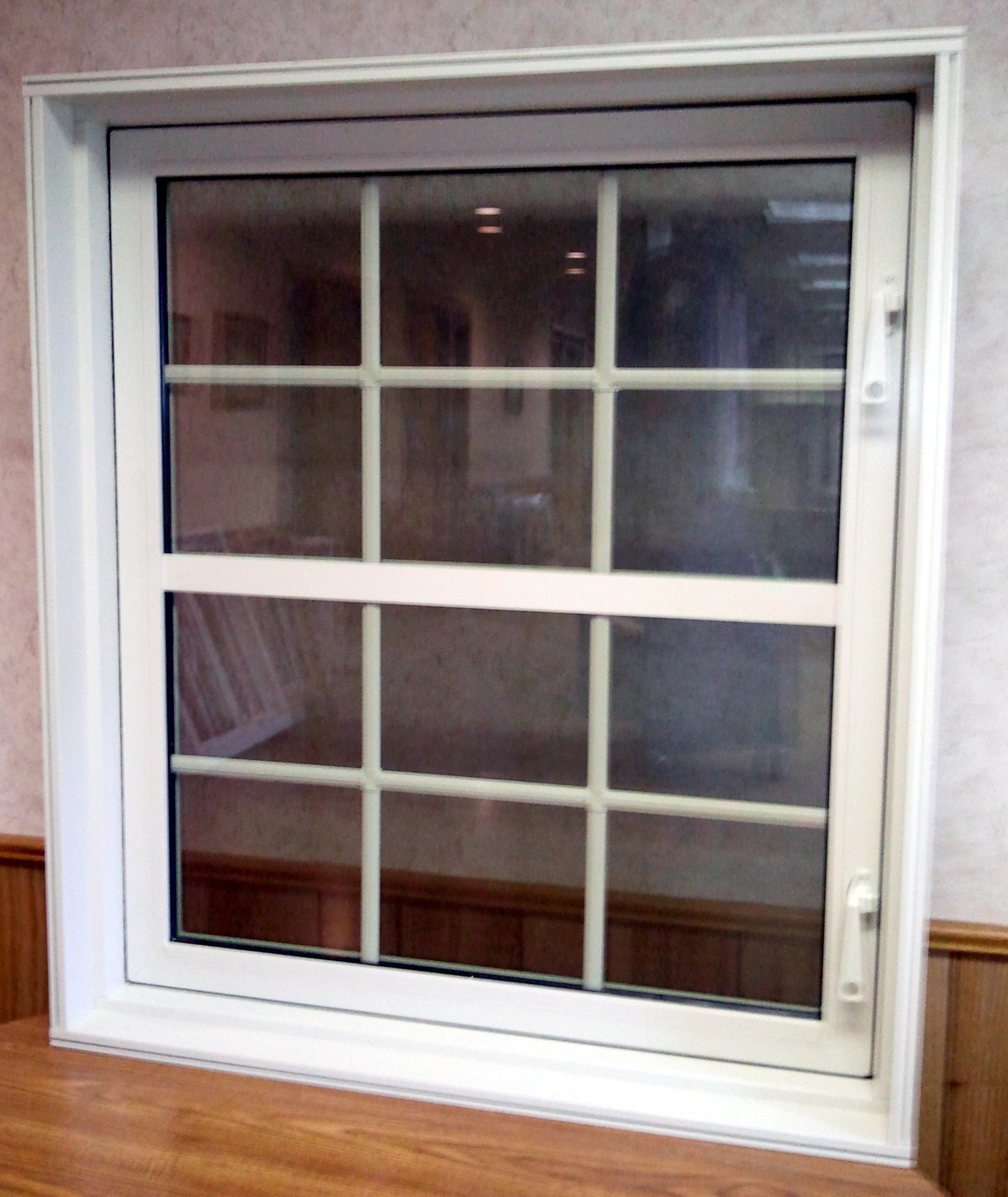 Custom Casement In-Swing Egress Window With Optional Grids