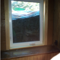 Casement out swing egress window closed