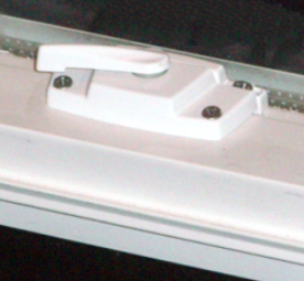 Compact Egress Window View of Sash Lock