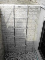 Bolt On Amp Hanging Egress Well Ladders Redi Exit