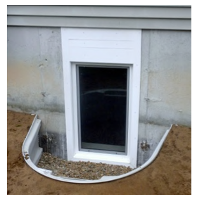 Casement In-swing Egress Window in an Egress Well