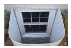 Compact Egress Window in Egress Well