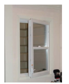 Compact Single Hung In-swing Egress Window