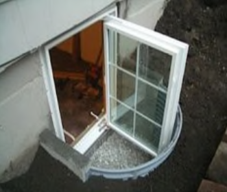 Window installation doesn't meet the 9 Sq. Ft. Egress well surface area code requirement