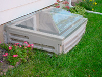 Egress Well Cover Bilco Scapewel 174 Clip On Sloped At