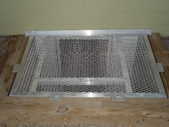Deluxe Custom Sized Grate Well Covers
